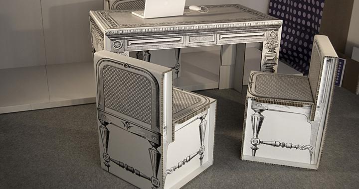 Linea di mobili e complementi d arredo in cartone - Mobili in cartone design ...