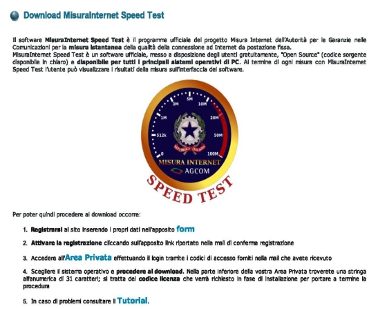 Misurainternet - MisuraInternet Speed Test