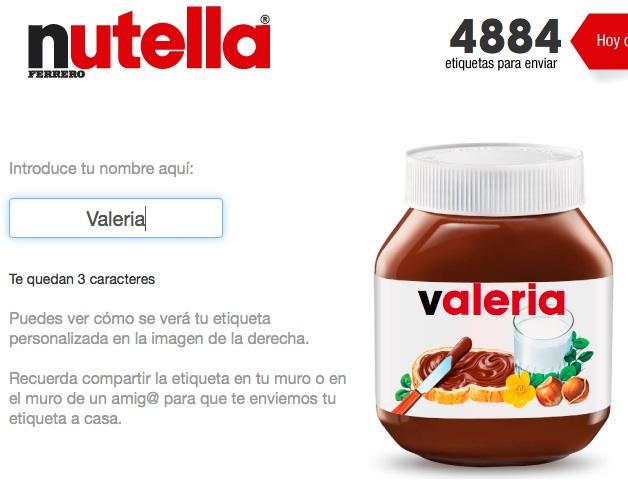 Nutella copia coca cola e mette il nome in etichetta for Casa personalizzata online