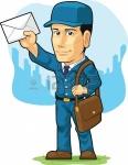18758848-fumetto-di-postino-o-mailman