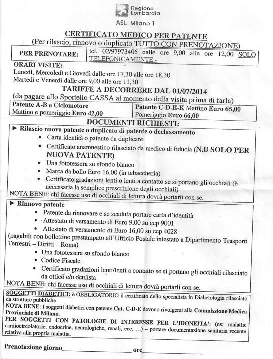 Rinnovo patente 2014