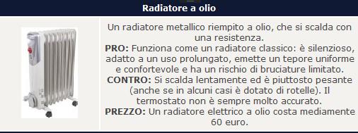 radiatore olio