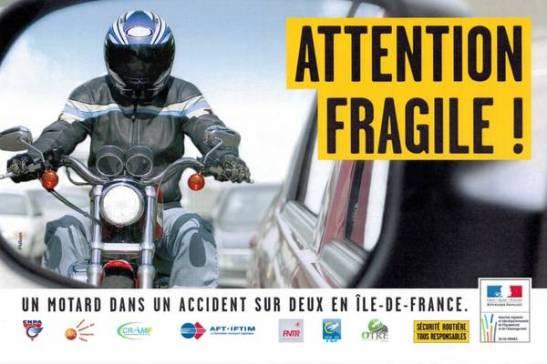 'Attenzione fragile!' lo spot francese pro-motociclisti