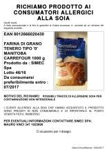 Microsoft Word - Cartello Richiamo ai consumatori  FARINA MANITO